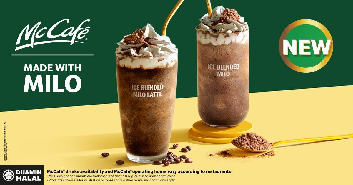 McCafe made with Milo