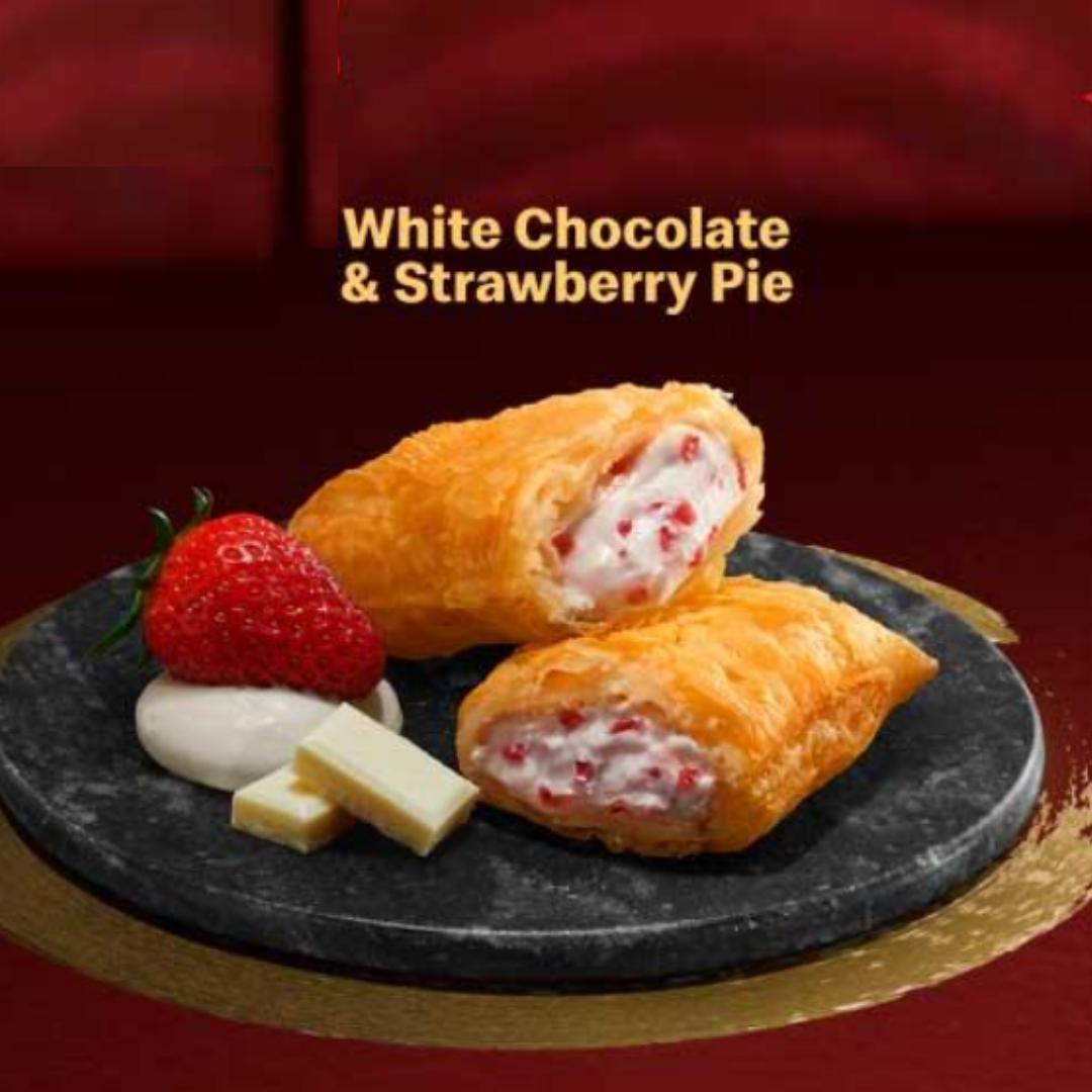 Boba McFlurry White Chocolate Strawberry pie